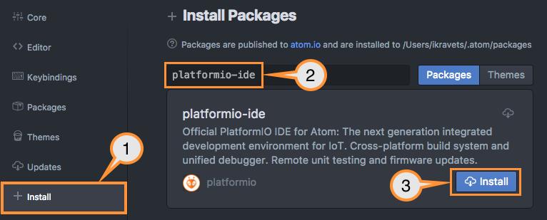 Installation · PlatformIO